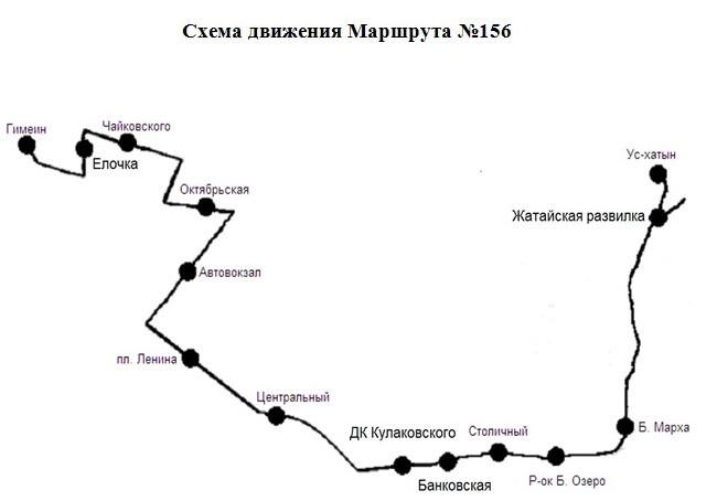 График движения маршрутов №155
