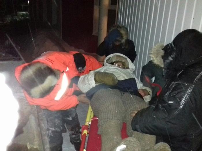 ВСреднеколымске идет операция поспасению тяжело нездорового рыбака