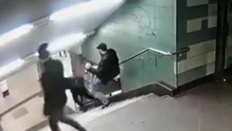 ВБерлине милиция отыскала хулигана резонансного нападения надевушку вметро