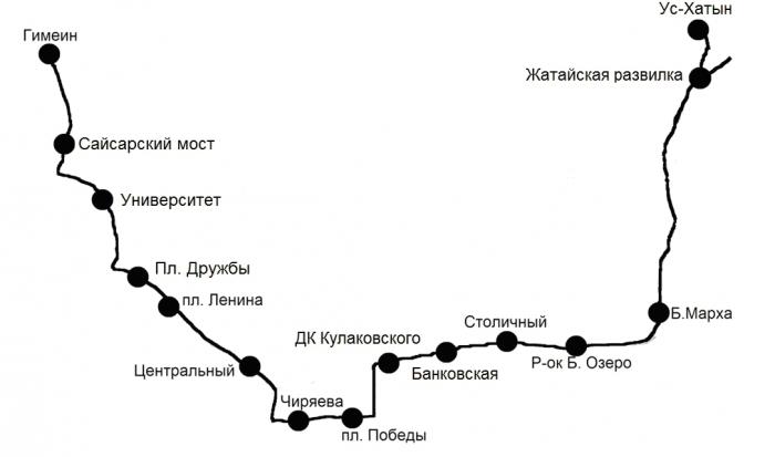 Схема движения Маршрута № 155